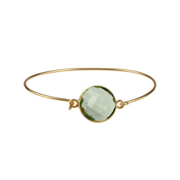 Gold Bezel Bangle Bracelet