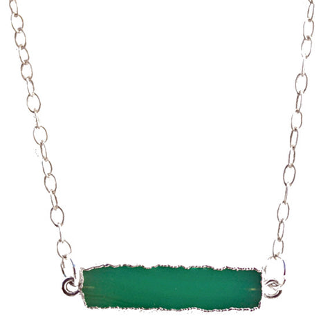 Chrysoprase Bar Pendant