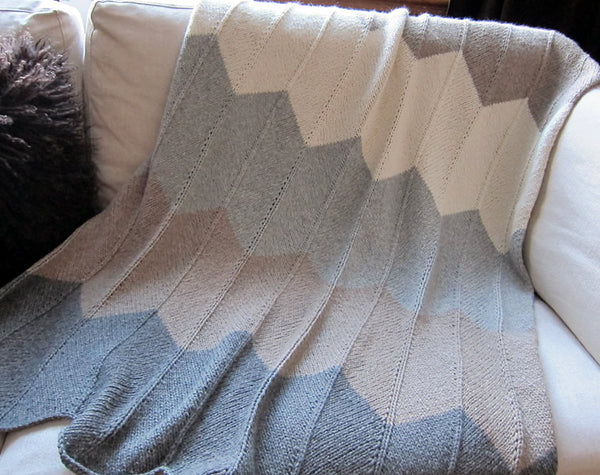 chevron colour block blanket