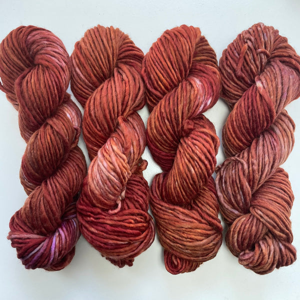 4 skeins of 80/20 Bulky OOAK (lot 28)