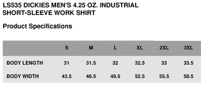 Tapped Life | Work is the Curse of the Drinking Class Work Shirt Size Chart