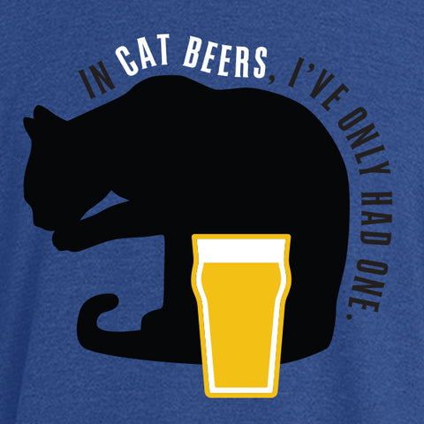 In Cat Beers, I've Only Had One Racerback Triblend Tank Top