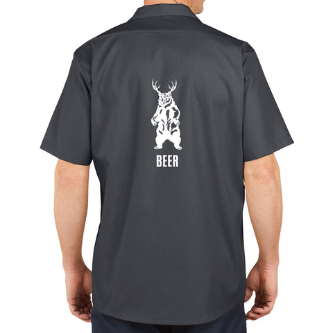 Bear + Deer = BEER Brewers Work Shirt