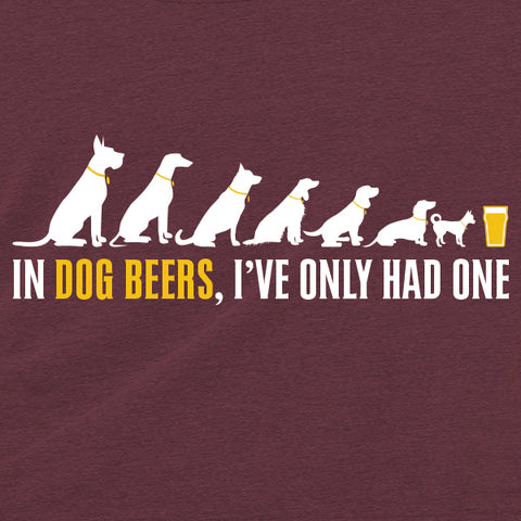 In Dog Beers, I've Only Had One Triblend Racerback Tank Top