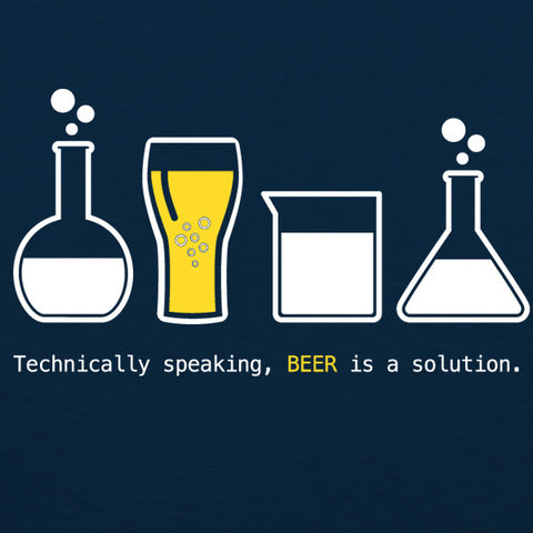 Beer is a solution mens craft beer t-shirt by Craft Brewed Clothing