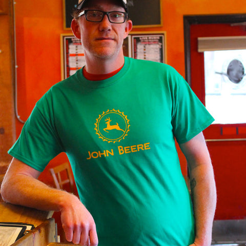 John beere mens beer t-shirts by Craft Brewed Clothing