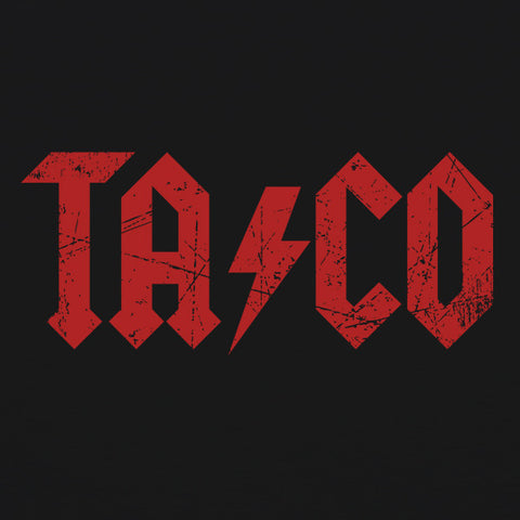 AC/DC Taco mens beer t-Shirt by Craft Brewed Clothing