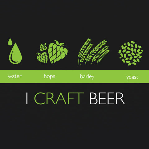 I Craft Beer MENS T-Shirt by Craft Brewed Clothing
