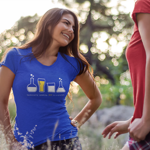 Technically Speaking, Beer is a Solution WOMENS T-Shirt