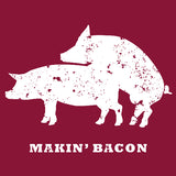 Makin' Bacon Mens Food T-shirt by Tapped Life