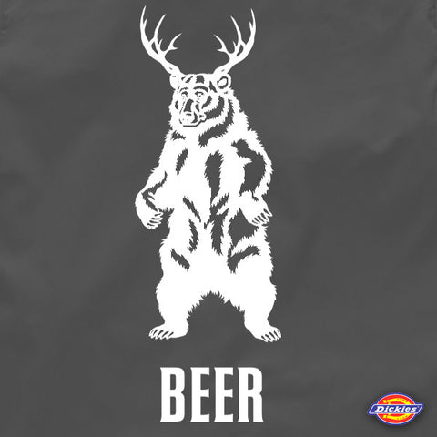 Deer + bear = beer brewers work shirt