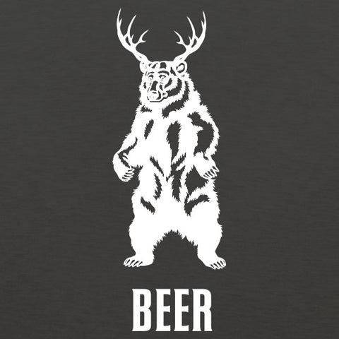 Deer + bear = beer mens t-shirt by Craft Brewed Clothing