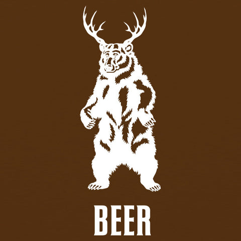 Deer + Bear = BEER WOMENS T-Shirt by Craft Brewed Clothing