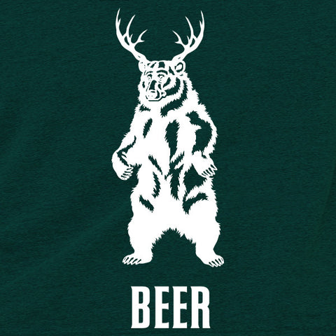 Bear + Deer = BEER Triblend Racerback Tank Top