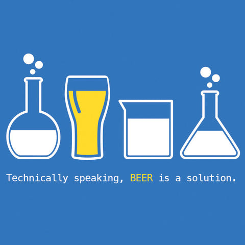 Beer is a solution womens craft beer t-shirt by Craft Brewed Clothing