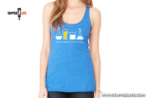 Beer is a solution racerback beer tank tops