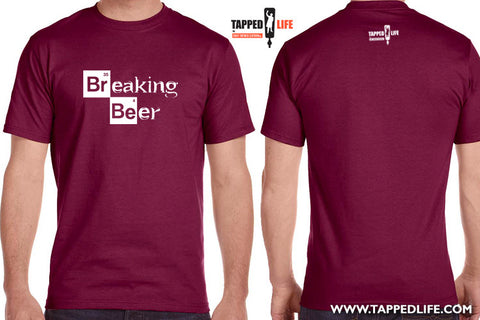 Breaking beer mens beer t-shirts by Craft Brewed Clothing