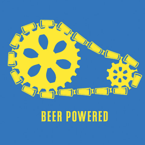 Beer powered womens craft beer t-shirt by Craft Brewed Clothing