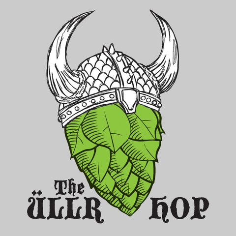 The ullr hop mens beer t-shirt by Craft Brewed Clothing