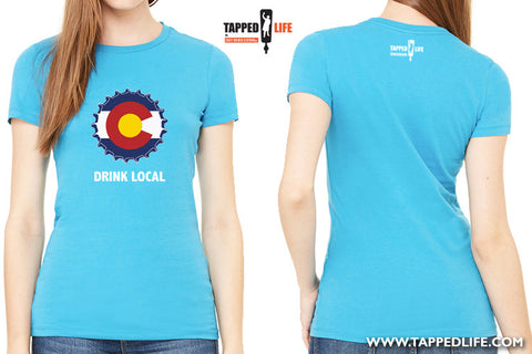 Colorado drink local womens beer t-shirts by Craft Brewed Clothing