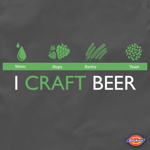 I craft beer brewers beer work shirt by Craft Brewed Clothing