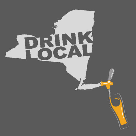 New york drink local mens craft beer t-shirt by Craft Brewed Clothing