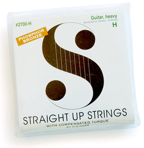 Straight Up Strings are designed to compensate for the string loads that impose a torque load on the guitar bridge.