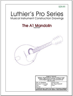 Mandolin Drawings, full-sized
