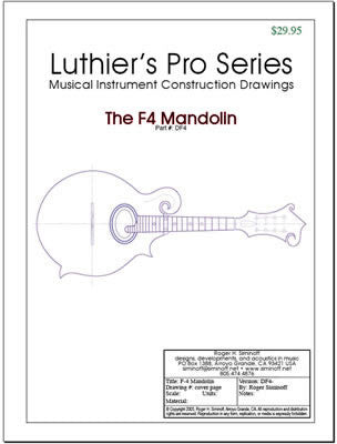 Mandolin Drawings, full-sized, all options (F5, F4, A5, A1)