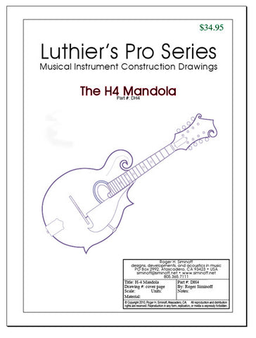 H4 Mandola Drawings, full-sized