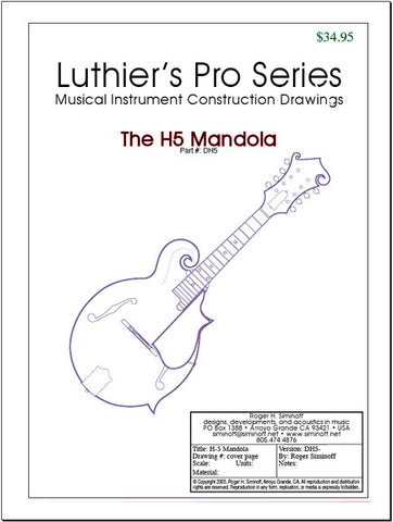 H5 Mandola Drawings, full-sized