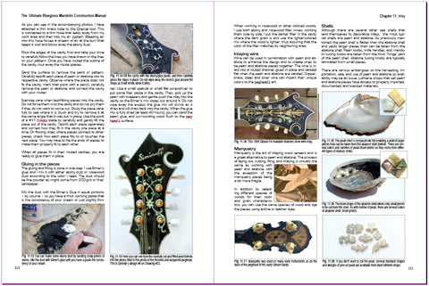 Ultimate bluegrass mandolin construction manual 4th edition shows details of inlaying pearl and abalone.
