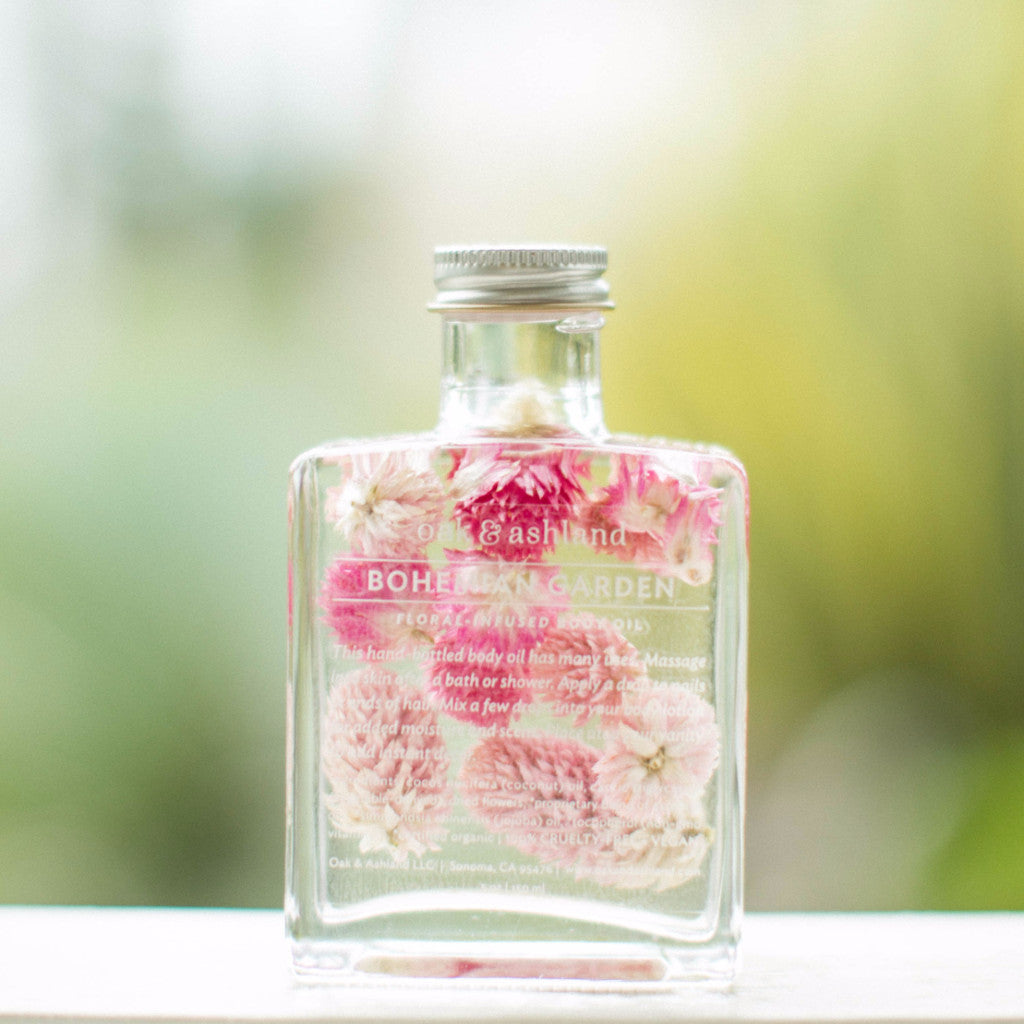 Floral-Infused Body Oil