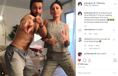 Joslyn Davis dances it out