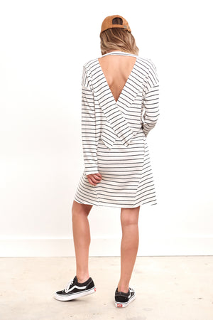 Now Or Never Long Sleeve Mini Stripe