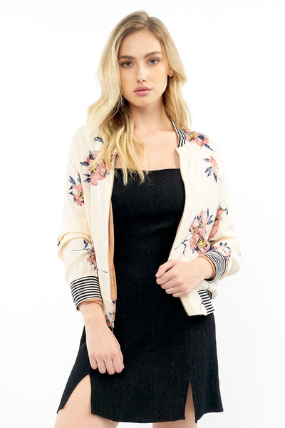 Crossfire Bomber - Blossom,saltwater luxe,Saltwater Luxe,WOMENS
