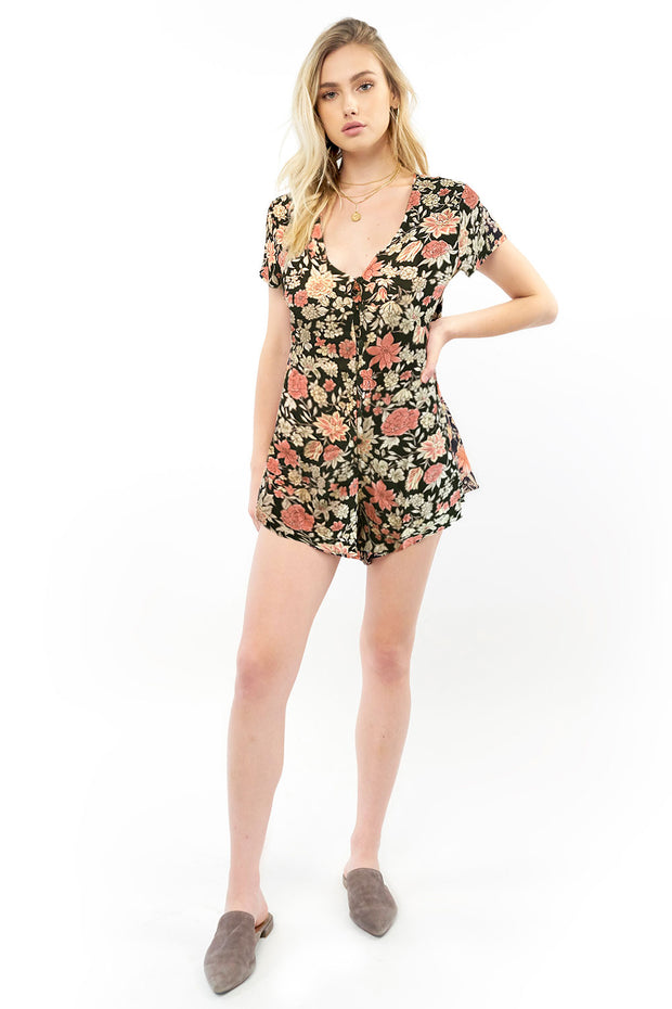 Sterling Romper - Floral,saltwater luxe,Saltwater Luxe,WOMENS