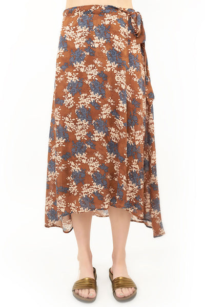 Brielle Wrap Skirt - Floral,saltwater luxe,Saltwater Luxe,WOMENS