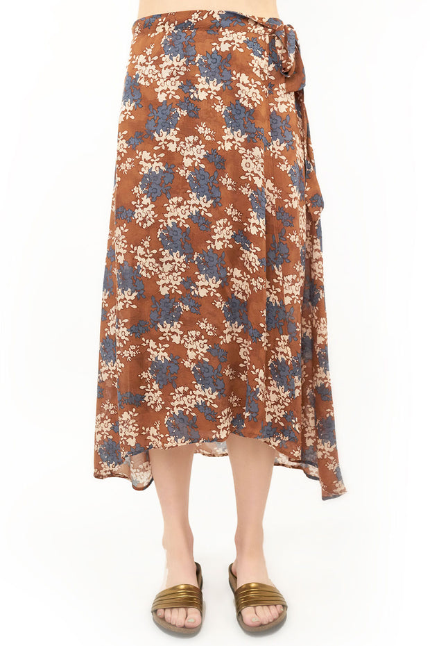 Brielle Wrap Skirt - Floral,saltwater luxe,saltwater-luxe,WOMENS
