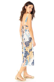 Georgia Midi Dress - Palm,saltwater luxe,Saltwater Luxe,WOMENS