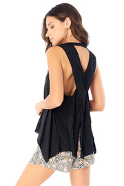 Salty Air Tank - Black,saltwater luxe,Saltwater Luxe,WOMENS
