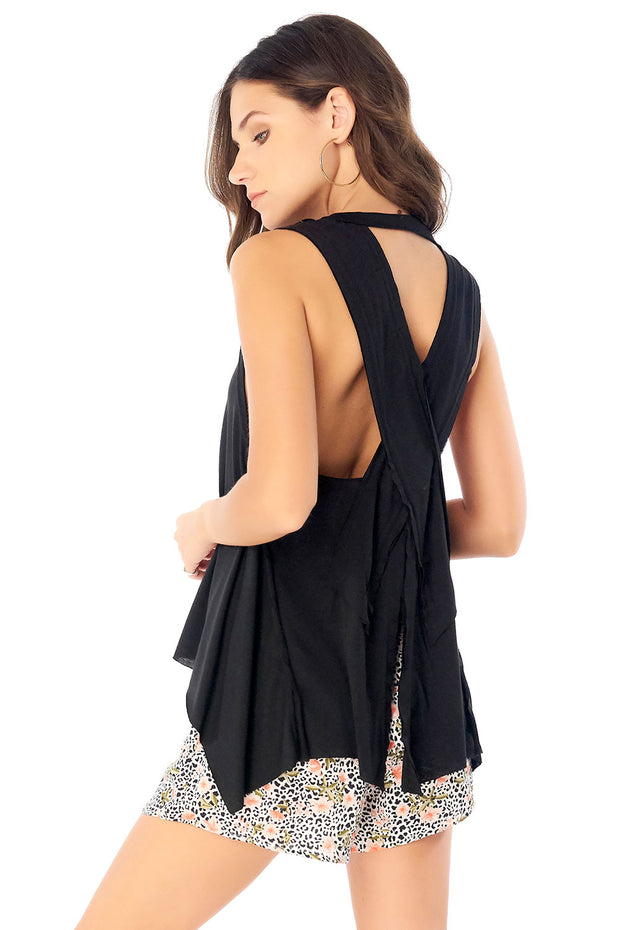 Salty Air Tank - Black,saltwater luxe,saltwater-luxe,WOMENS