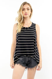 Salty Air Tank - Black Stripe,saltwater luxe,saltwater-luxe,WOMENS