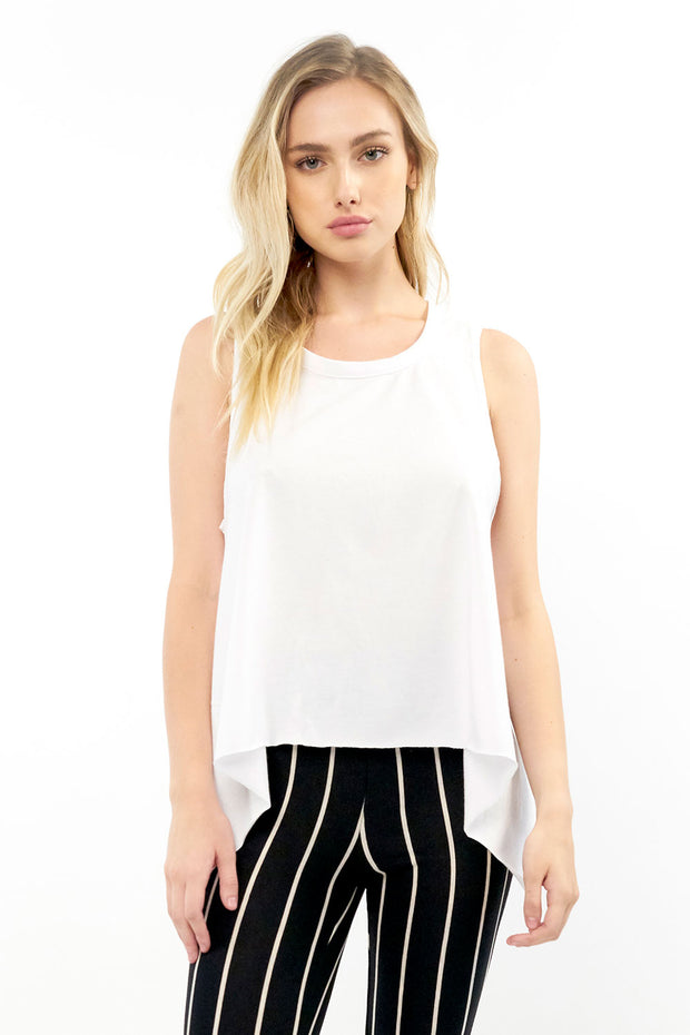Salty Air Tank - White,saltwater luxe,Saltwater Luxe,WOMENS