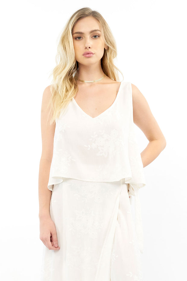 Dottie Tank - Embroidery,saltwater luxe,Saltwater Luxe,WOMENS
