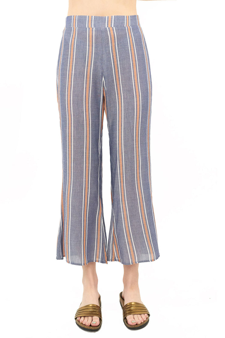 Retreat Crop Pant - Stripe,saltwater luxe,Saltwater Luxe,WOMENS