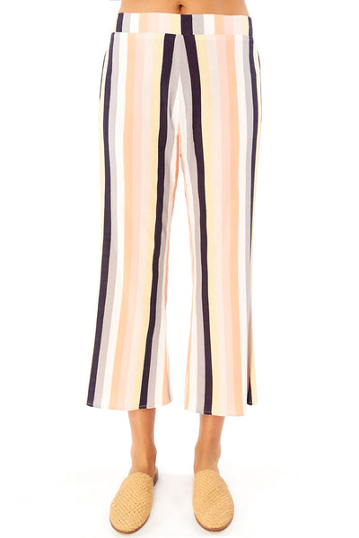 Retreat Crop Pant - Summer Stripe,saltwater luxe,Saltwater Luxe,WOMENS