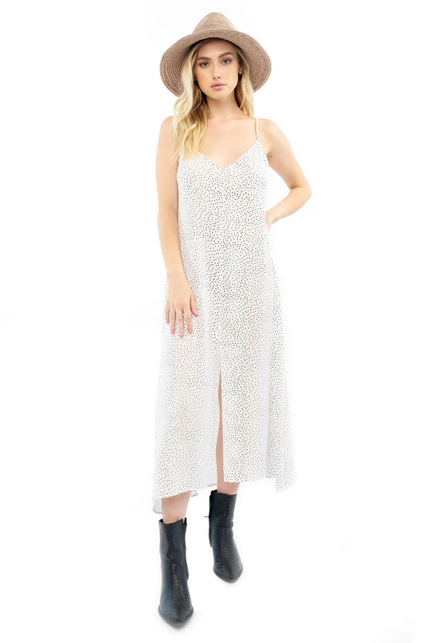 Sundown Midi Dress - Dot,saltwater luxe,Saltwater Luxe,WOMENS