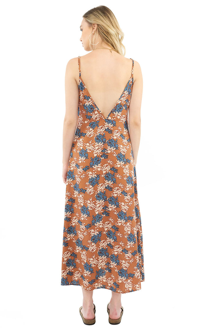 Sundown Midi Dress - Floral,saltwater luxe,Saltwater Luxe,WOMENS