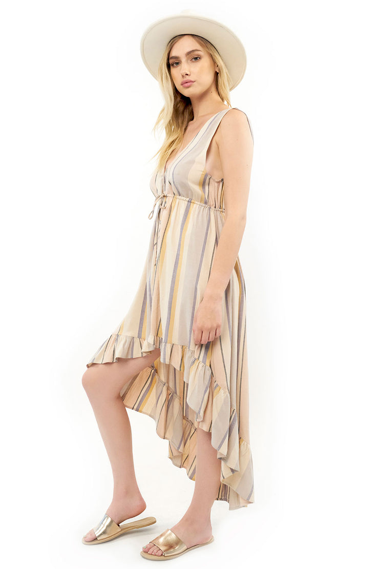 Lovestoned Maxi Dress - Stripe,saltwater luxe,Saltwater Luxe,WOMENS